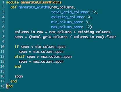 Screen cap of code snippet